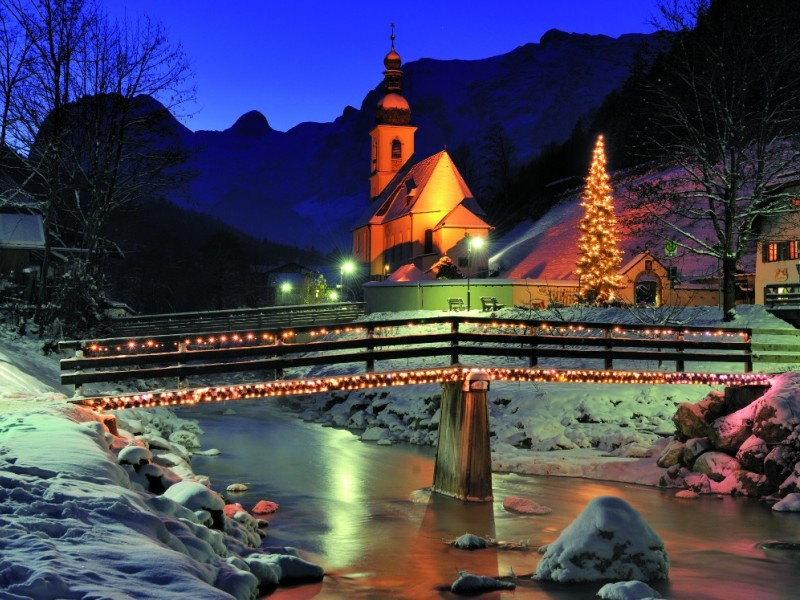 Pfarrkirche Ramsau weihnachtlich